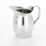 American Metalcraft BPG101 Bell Pitcher w/ 100 oz Capacity & Ice Guard, Mirror/Stainless