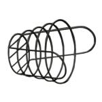 American Metalcraft BWB965 Round Wire Basket, 9x6.5-in, Black