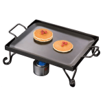 "American Metalcraft GS16 16"" Griddle w/ Stand, Wrought Iron/Black"