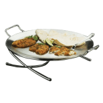 "American Metalcraft GSST17 17.5"" Round Griddle w/ Handle, Stainless"