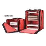 American Metalcraft PB1914 Deluxe Pizza Delivery Bag w/ Rack & 6 Box Capacity, Red/Black