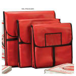 """American Metalcraft PB2400 Pizza Delivery Bag, 24"""" X 24 in, Holds Two 22"""" Boxes, Red Vinyl"""