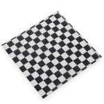 "American Metalcraft PPCH1B Checkerboard Fry Paper, 12x12"", Black"