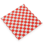 "American Metalcraft PPCH3R Checkerboard Fry Paper, 12x12"", Red"