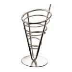 """American Metalcraft SS59 5"""" Conical Basket w/ 1-Cone Capacity, Stainless"""