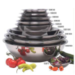 """American Metalcraft SSB1600 17.75"""" Mixing Bowl w/ 16-qt Capacity, Stainless"""