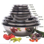 "American Metalcraft SSB2000 19"" Mixing Bowl w/ 20-qt Capacity, Stainless"