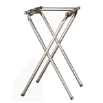 "American Metalcraft TRSD1815 31"" Folding Deluxe Tray Stand w/ Nylon Strap, Chrome/Black"