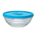 Duralex 9066AM06 1-qt Lys Round Storage Bowl w/ Lid, Glass