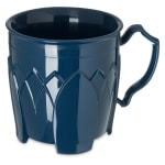 Dinex DX5000-50 Insulated 8-oz Mug w/ Sculpture Design, Midnight Blue