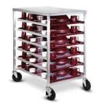 Dinex DXDHOR12U 12 Tray Cabinet Room Service Cart, Aluminum