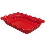 "Emile Henry 341987 3.3 qt Ceramic Baking Dish, 14x10x2.75"", Burgundy"