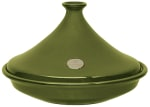 Emile Henry 875535 14.5-in Tagine w/ 3.7-Quart Capacity, Olive