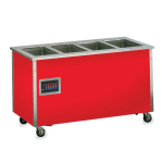 Vollrath 37050 5 Well Hot Food Station - Enclosed Base, Thermostat, Manifold Drain, 34x74x28