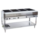 Vollrath 38004 4 Well Hot Food Table - Thermostat, Plate Rest, Cutting Board, 120v