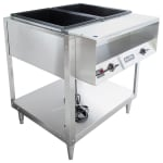 Vollrath 38102 2-Well Hot Food Table - (2)Thermostat, Plate Rest, Cutting Board, 120v