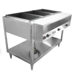 Vollrath 38103 3 Well Hot Food Table - (3)Thermostat, Plate Rest, Cutting Board, 120v