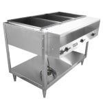 Vollrath 38117 3 Well Hot Food Table - (3)Thermostat, Plate Rest, Cutting Board, 208 240v