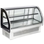 "Vollrath 40843 48"" Full Service Deli Case w/ Curved Glass - (2) Levels, 110v"