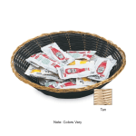 "Vollrath 47206 9-1/2"" Oval Cracker Basket - Plastic Rattan, Tan"