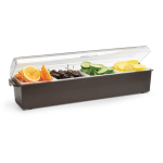 Vollrath 4745-01 4 qt Condiment Dispenser Standard Lid - Plastic, Brown
