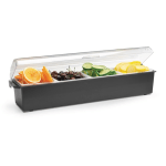Vollrath 4745-06 4 qt Condiment Dispenser Standard Lid - Plastic, Black
