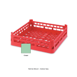 "Vollrath 52670 Open-End Dishwasher Rack - Short, Full-Size, 19-3/4x19-3/4"" Green"