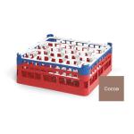 """Vollrath 52693 2 Dishwasher Rack - 20-Lemon-Drop, Medium, Full-Size, 19-3/4x19-3/4"""" Cocoa"""
