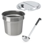 Vollrath 72231 Soup Merchandiser Accessory Kit - Includes (2) Inserts, (2) Covers, (2) Ladles