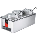 Vollrath 72788 (3) 7.25 qt Countertop Soup Warmer w/ Thermostatic Controls, 120v