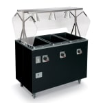 Vollrath T387312 4 Well Hot Food Station - Open Base, Thermostat, Manifold Drain, Granite 208 240v