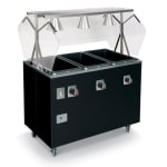 Vollrath T387672 3-Well Hot Food Station - Solid Base, Thermostat, Manifold, Cherry 208-240v