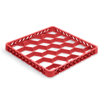 Vollrath TR-G-02 Full-Size Dishwasher Rack Extender - 20-Compartment, Red