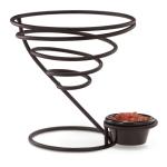 """Vollrath WC-6009-06 7"""" Wire Cone Basket with Ramekin Holder - Black"""