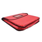 "Intedge IPK-6 R Waterproof Pizza Bag, 30 x 30 x 6"", Red"