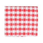 """Intedge VC5252TCR Vinyl Table Covering, Tavern Check Design, Red/White, Flannel Back, 52"""" X 52"""