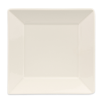 "Homer Laughlin 08300 8.5"" Square Times Square Plate - China, Ivory"