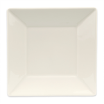 """Homer Laughlin 08500 7.38"""" Square Times Square Plate - China, Ivory"""