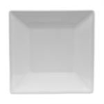 """Homer Laughlin 08510000 7.38"""" Square Times Square Plate - China, Arctic White"""