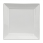 "Homer Laughlin 08710000 10"" Square Times Square Plate - China, Arctic White"