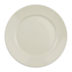 "Homer Laughlin 12092100 9.63"" Round RE-21 Plate - China, Ivory"