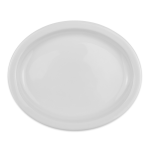 "Homer Laughlin 25910000 9.75"" Oval Platter - China, Arctic White"