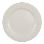"Homer Laughlin 3377000 9"" Round Gothic Blanc Plate - China, Ivory"