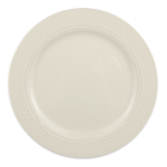 "Homer Laughlin 3397000 10.63"" Round Gothic Blanc Plate - China, Ivory"