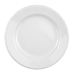 "Homer Laughlin 40510000 7"" Round Durathin Plate - China, Arctic White"