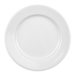 "Homer Laughlin 40710000 9"" Round Durathin Plate - China, Arctic White"