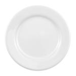 "Homer Laughlin 40810000 10"" Round Durathin Plate - China, Arctic White"