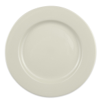 "Homer Laughlin 41000 11.13"" Round Durathin Plate - China, Ivory"