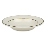 Homer Laughlin 4141409 13 oz Diplomat Gold Soup Bowl - China, Ivory