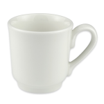 Homer Laughlin 6546000 8-oz Pristine Tea Cup - China, Ameriwhite